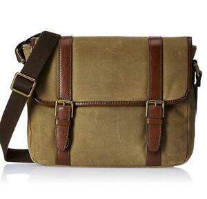 Fossil Men's Estate Messenger Bag Khaki