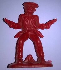 Cowboy Action Figure Soldier Cake Topper Vintage Plastic Wild West Mexican Alamo