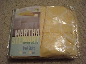 Vintage 1997 Martha Stewart Bed Skirt Full Size Yellow Color New
