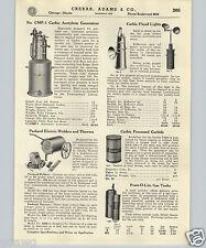 1937 PAPER AD Carbic Acetylene Generator Floodlight Packard Welder Sellstrom