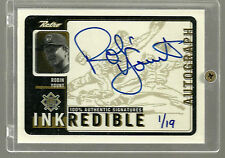 1999 Upper Deck Retro Inkredible Level 2 Autograph Auto Robin Yount HOF 1/19 1/1