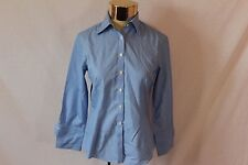 Women's Brooks Brothers Blue Striped Button Up Blouse Long Sleeved - Size 2