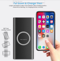 3in1 500000mAh Power Bank Qi Wireless Charging USB LED Portable Battery Charger