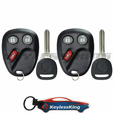 2 Replacement for 2005-2007 Saab 9-7X : Key Entry Fob Remote Set