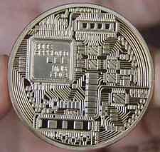 1x Gold Plated Iron Art Collectible Gift Coin Virtual Money Bitcoin Souvenir ILK