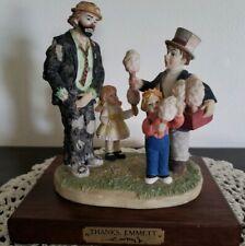 "Vintage Emmett Kelly Jr. Porcelain Clown Figurine ""Day At The Fair"""