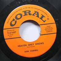 50'S & 60'S Unplayed Stock 45 Don Cornell - Heaven Only Knows / Life Is A Song O
