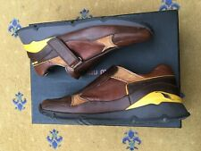Miu Miu by Prada Mens Brown Leather Trainers Sneaker Shoes UK 6.5 US 7.5 EU 40.5