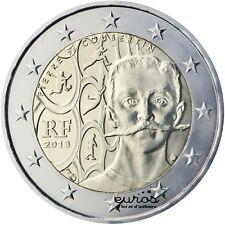 Pièce de  2 euros commémorative FRANCE 2013  - Pierre de COUBERTIN  - UNC