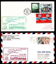"""14 Erstflüge FFC LH  """"Südamerika- und Karibienstrecke"""" 11.01.1966 !!"""