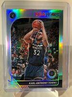 Karl Anthony-Towns Silver Prizm #111 2019-20 NBA Hoops Premium Timberwolves
