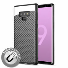 For Samsung Galaxy Note 9 - Carbon Fiber Hybrid Magnetic Back Plate Case Cover