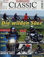 Motorrad Classic 2/06 2006 Douglas Mk V Jawa 500 Münch TTS BSA Gold Star RD 350