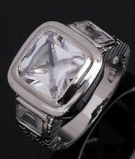18K Gold Filled Rare Fashion Ringss Nobby Size 11 Wedding Mens White Sapphire