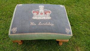 Vintage ( His Lordship) padded footstool.