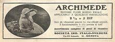 Y2956 ARCHIMEDE - Motore fuori bordo - Pubblicità del 1923 - Old advertising