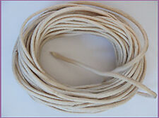 2mm Waxed Cotton Cord Natural 10 yard pack (30 feet)