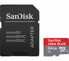 sandisk 64GB elite ultra performance microSDXC UHS-I Card class 10 with adapter