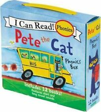 Pete the Cat 12-Book Phonics Fun! by James Dean (2017, Paperback)