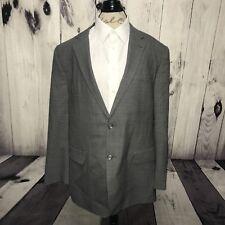 Jos A Bank 2B JOSEPH 2 Button Grey Check Windowpane Suit Blazer 100% Wool 46R