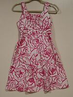 EUC Rare Editions Girls Special Occasion WhiteAnd Pink Floral Dress Size 12