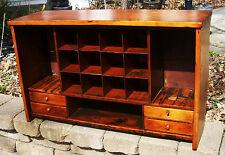 1840 Antique Primitive Folk Art Furniture Cabinet Cupboard Postmaster Mail Cubby