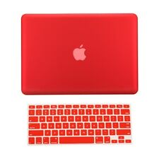 "2 in 1 Rubberized RED Hard Case for Macbook PRO 13"" A1278 with Keyboard Cover"