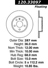 StopTech Sport Slotted Brake Disc fits 2001-2009 Audi A4 A4 Quattro A4,A4 Quattr