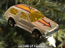 Classic '77 AMC Pacer Christmas Ornament 1/64th Scale Rare Chrome Super Charged
