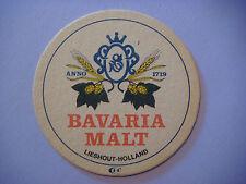 Vintage Beer Bar Coaster ~*~ BAVARIA BIER Malt Alcoholvrij ~*~ Lieshout, Holland
