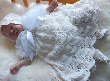 KNITTING PATTERN TO MAKE **CHANTILLY** DRESS & SHRUG SET FOR BABY OR REBORN DOLL