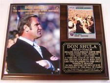 Don Shula Miami Dolphins NFL's Winningest Coach Photo Card Plaque Perfect Season