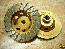 "5 inch 125mm 5/8"" thread THK DIAMOND TURBO segment Grinding grind Cup Wheel disc"