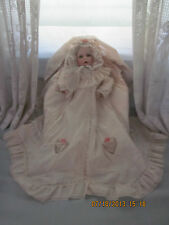 Ltd Arts Hamilton Collection Boehm Elena Porcelain Doll in Bassinet w/Certicates