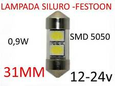 Lampada LED festoon siluro 31mm tuning lampadina 12-24V tasto ascensore camper