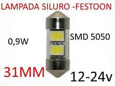 Lampada LED festoon siluro 31mm tuning g4 lampadina 12-24V camper barca pulman B