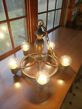 Antique Cast Iron  5 Bulb Light Fixture