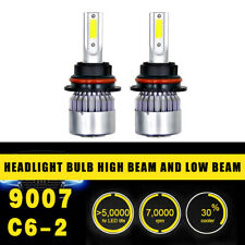 2pc 9007 Head Lamp Coversion LED Light Bulb Kit High&Low Beam 97500LM 650W White