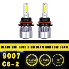 2pc 9007 Head Lamp Coversion LED Light Bulb Kit High&Low Beam 97500LM 650W White