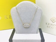 WOAH! 14K Yellow GOLD Kendra Scott ELISA NECKLACE set With DIAMONDS