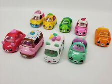 Shopkins Cutie Cars And Figures by Moose Lot of 9