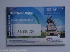 Netherlands Het Molen vijfje 5 euro 2014 Fdc Coincard First Day Issue