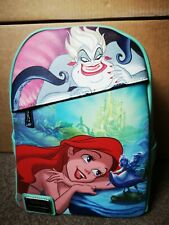 More details for disney loungefly mini backpack dec the little mermaid ariel & ursula