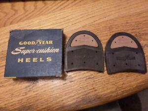VTG NOS Goodyear Rubber Shoe Heels Super Cushion 12-13 Tan NIB