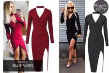 V-Neck Wrap Dresses for Women with Ruched