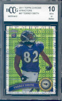 2011 topps chrome xfractors #97 TORREY SMITH rookie BGS BCCG 10