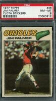 1977 Topps #36 Jim Palmer Cloth Sticker PSA 8 NM-MT