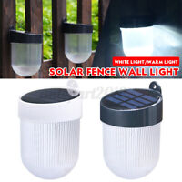 LED Outdoor Solar Powered Fence s Waterproof  Wall Lamp Garden Patio