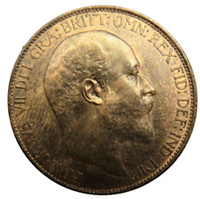 More details for 1902 king edward vii halfpenny coin unc - great britain