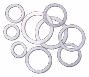Fragola Aluminum Crush Washers, 10 Pack, -8 AN